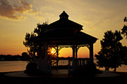 Water - Gazebo Sunset by Joel Witmeyer