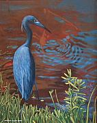 Egg Tempera Prints - Gazing Intently Print by Peter Muzyka
