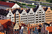 Rooftop Framed Prints - Gdansk Granaries Framed Print by Artur Bogacki