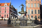Neptune Photo Prints - Gdansk Old City in Poland Print by Artur Bogacki