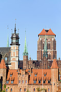 Rooftop Framed Prints - Gdansk Old Town Framed Print by Artur Bogacki