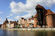 Historic Housing Prints - Gdansk Old Town Waterfront Print by Artur Bogacki