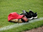 Red Sox Art - Gear at Rest by Carol Christopher