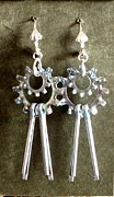 Earrings Photo Originals - Gearrings by Jan  Brieger-Scranton