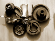 Design Pyrography - Gears III by Jan  Brieger-Scranton