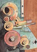 Watercolour Posters - Gears Poster by Ken Powers