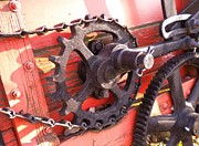Sprockets Painting Prints - Gears Print by Renate Nadi Wesley