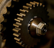 Machinery Photo Posters - Gears  Poster by Wilma  Birdwell