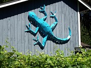 Metal Art Sculpture Posters - Gecko Poster by JP Giarde