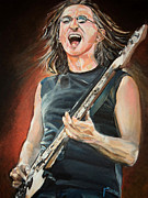 Musicians Paintings - Geddy Lee by Merv Scoble