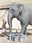 Circus. Paintings - Gee Whiz II by Greg Halom