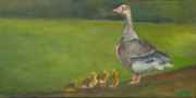 Geese Paintings - Geese by Julie Dalton Gourgues