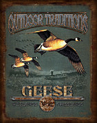 Wetland Metal Prints - Geese Traditions Metal Print by JQ Licensing