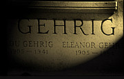 Photo Pyrography Prints - Gehrig   Lou Gehrig  Print by Iconic Images Art Gallery David Pucciarelli