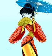 Geisha Girl Print by Lynn Rider