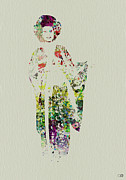 Attractive Framed Prints - Geisha Framed Print by Irina  March