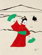 Fan Originals - Geisha by Robert Ball