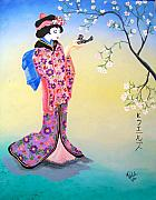 Kathern Welsh - Geisha with Bird