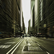 Urban Buildings Prints - Gelati Rush Print by Andrew Paranavitana