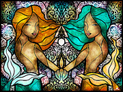 Twins Digital Art Prints - Gem and I Print by Mandie Manzano