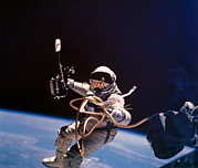 Pioneers Photos - Gemini 4 Astronaut Edward H. White by Nasa