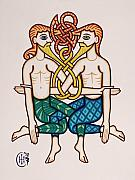 Celtic Knotwork Prints - Gemini Print by Ian Herriott