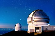 Observatories Prints - Gemini North Telescope, Hawaii Print by David Nunuk
