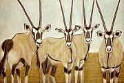 Gemsboks Or 0ryxs Triptych Print by Isabelle Ehly