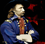 Civil Framed Prints - Gen Custer 2 Framed Print by James VerDoorn