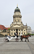 Horse And Buggy Art - Gendarmenmarkt Berlin Germany by Matthias Hauser