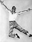 Rain Drawings - Gene Kelly by Sarah Stonehouse