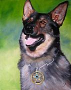 Law Enforcement Painting Prints - Gene-o Print by Joni McPherson