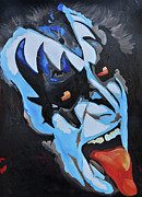 Rock Star Art Art - Gene Simmons Lick it up by Brad Jensen