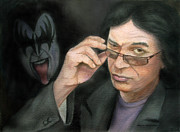 Actor Pastels Posters - Gene Simmons Poster by Mamie Greenfield