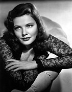 Black Lace Photos - Gene Tierney by Everett