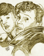 Mccartney Drawings - Gene Vincent - Paul McCartney by Didier DidGiv
