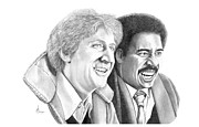 Pryor Posters - Gene Wilder-Richard Pryor Poster by Murphy Elliott