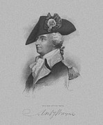 Revolutionary War Mixed Media Metal Prints - General Anthony Wayne Metal Print by War Is Hell Store