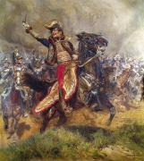 Charge Paintings - General Antoine-Charles-Louis Lasalle by Jean Baptiste Edouard Detaille