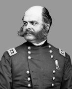 Ambrose Burnside Prints - General Burnside Print by War Is Hell Store