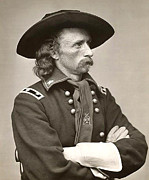 Little Big Horn Framed Prints - General Custer Framed Print by Bill Cannon
