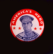 Macarthur Framed Prints - General Douglas Macarthur Presidential Framed Print by Everett