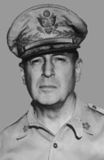 Navy Digital Art Prints - General Douglas MacArthur Print by War Is Hell Store