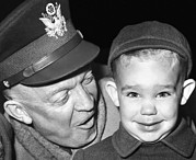 Little Boy Prints - General Dwight Eisenhower Print by Everett