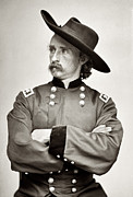 General Custer Posters - General George Armstrong Custer Poster by Bill Cannon