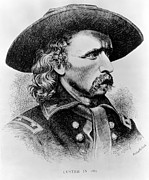 1860s Posters - General George Custer, 1865 Poster by Everett