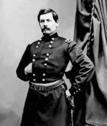 Union Framed Prints - General George McClellan Framed Print by War Is Hell Store