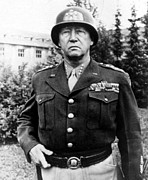 George Patton Framed Prints - General George Patton, 1940s Framed Print by Everett