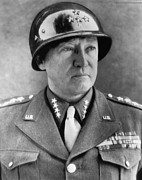1940s Portraits Photo Posters - General George S. Patton Jr. 1885-1945 Poster by Everett