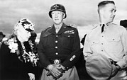 George Patton Framed Prints - General George S. Patton Jr. Center Framed Print by Everett